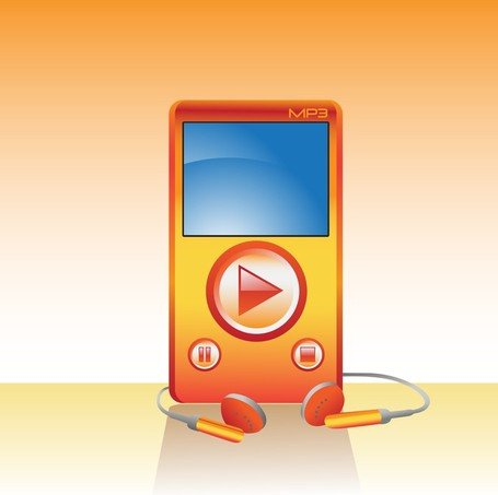 Mp3 Player, Cliparts.
