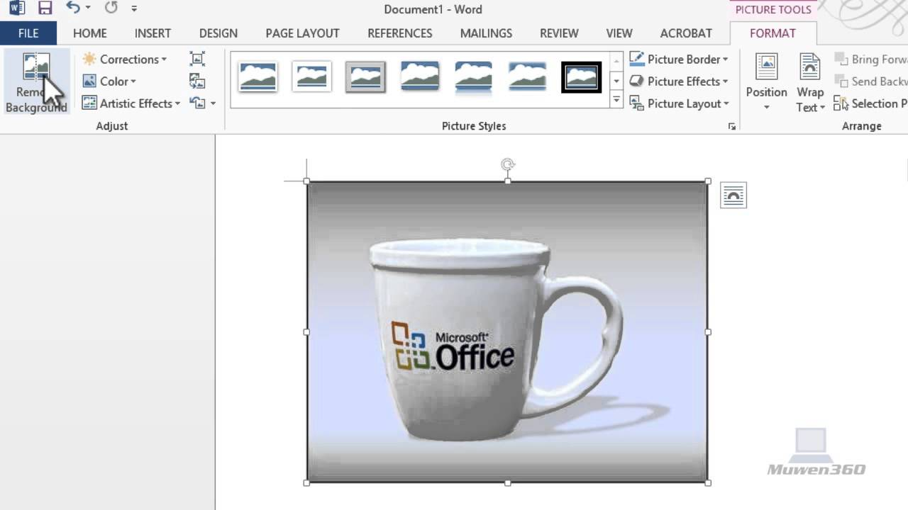 How To Remove Background From An Image Using Microsoft Word 2010.