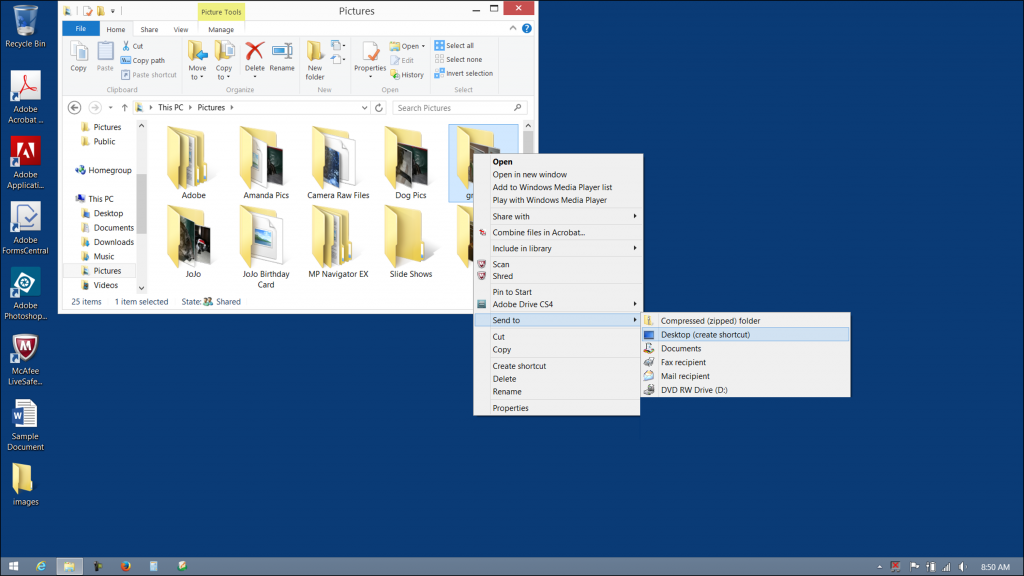 How to remove homegroup clipart from desktop windows 81.