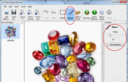 Remove watermark from jpg.