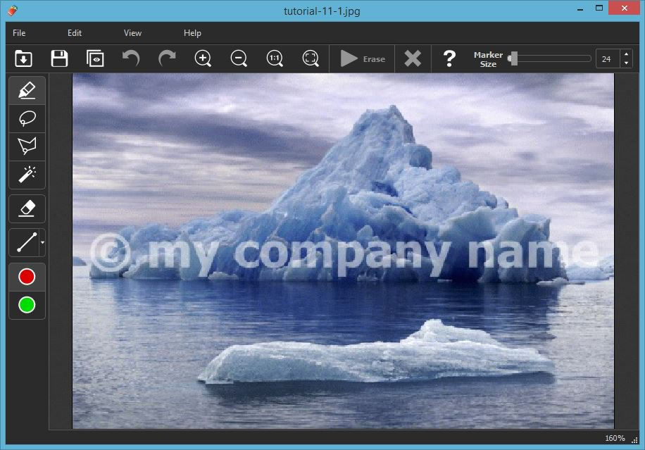 Easily Remove Watermark, text or logo from a photo.