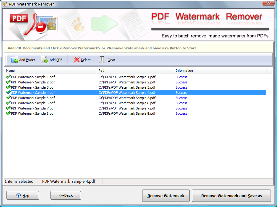Remove PDF Image Watermark Easily.