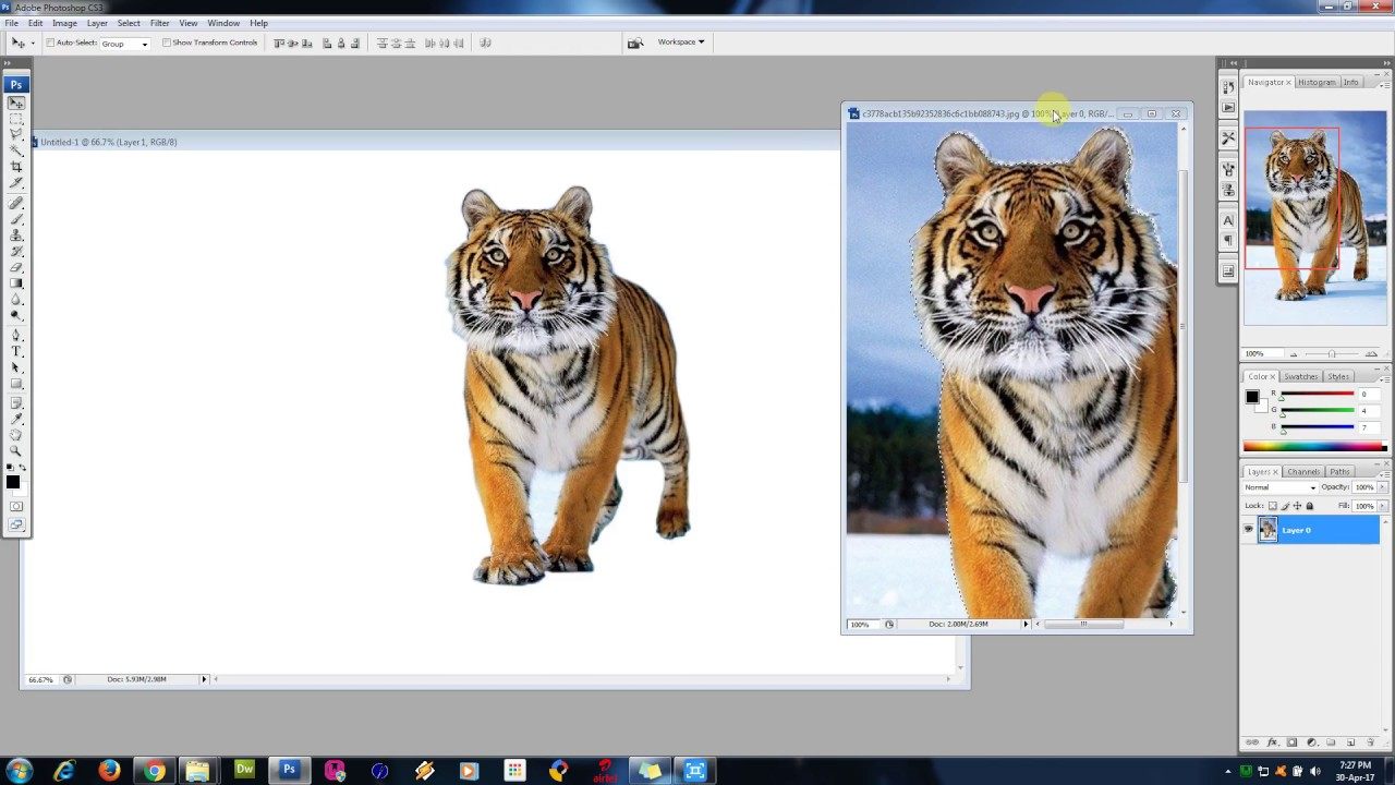 Transparent Background in Photoshop.