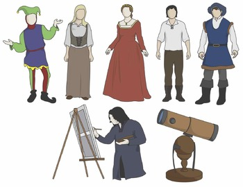 Renaissance Clip Art: People and Artifacts.