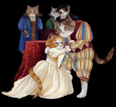 Download Free png Renaissance Cats.png.