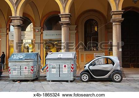 Stock Photo of Renault Twizy electric car Bologna city Emilia.