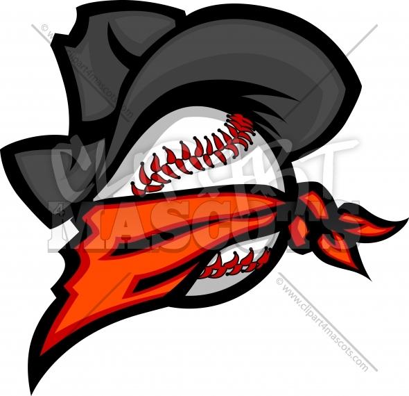 Renegade Baseball Clipart Image of a Baseball Ball with a.