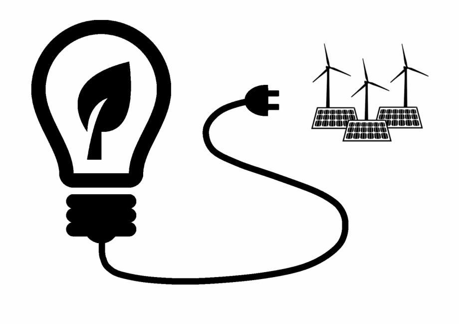 Renewable Energy Icon Incandescent Light Bulb.