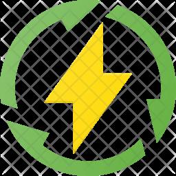 Renewable energy Icon.