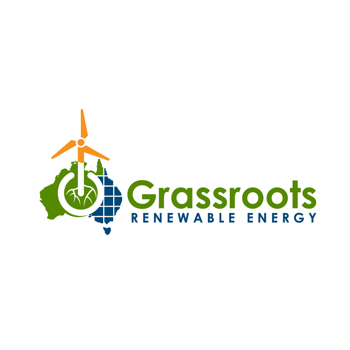 Bold, Modern, Renewable Logo Design for Grassroots Renewable.