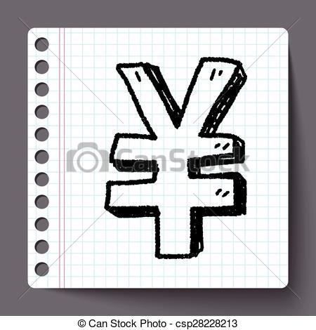 Vector Clip Art of doodle Renminbi csp28228213.