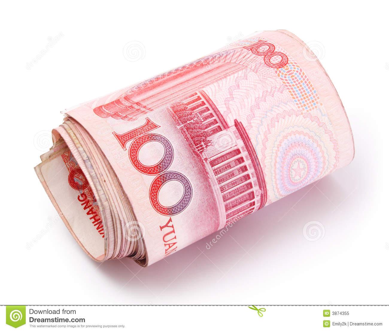 Roll Of Renminbi Royalty Free Stock Photo.