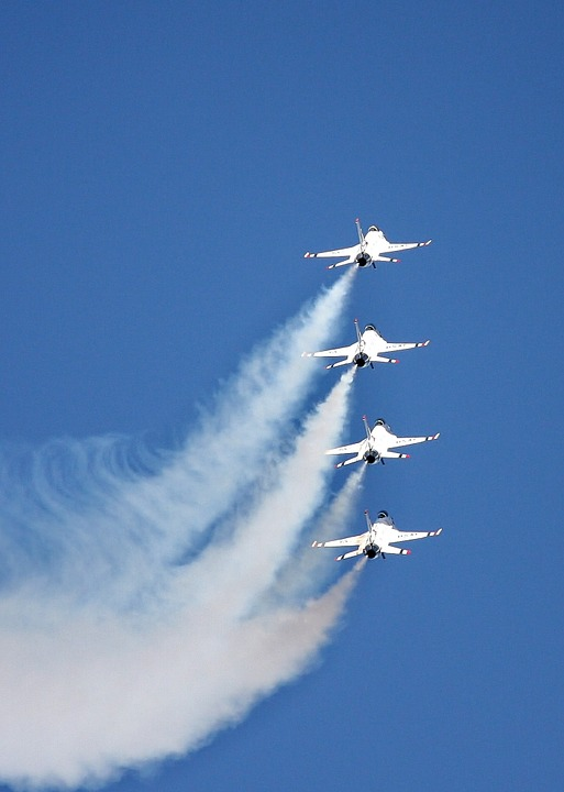 Free photo Air Show Military Jets Reno Airshow Airplanes.