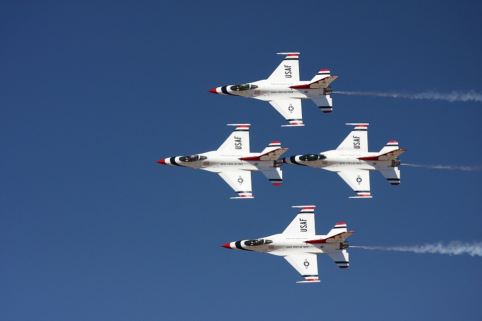 Free photo Military Jets Reno Airshow Air Show Airplanes.
