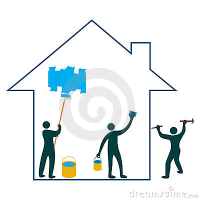 Home Renovation Team Royalty Free Stock Photography.