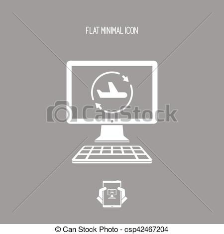 Vector Clipart of Airline renovated services icon csp42467204.
