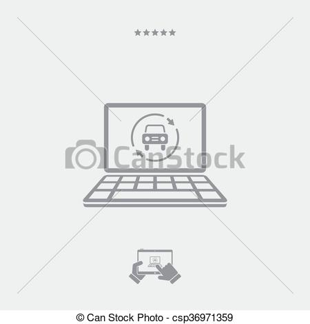 Clipart Vector of Car renovated services icon csp36971359.