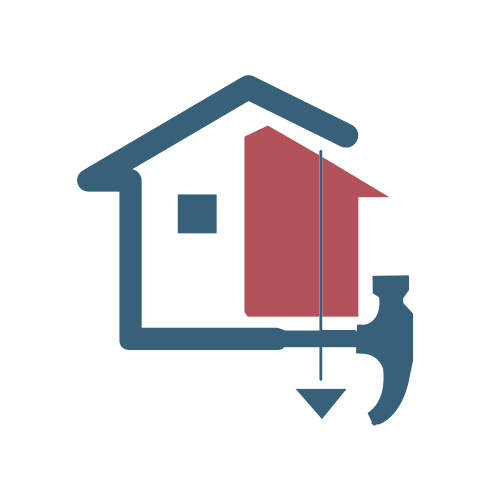 Blue Home Renovation Logo.