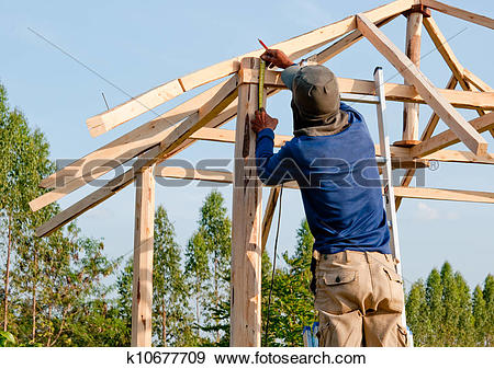 Stock Photograph of The Home renovation work under construction.