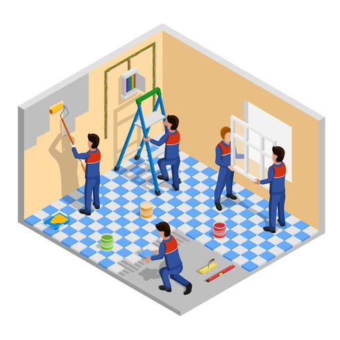Renovation Isometric Composition.
