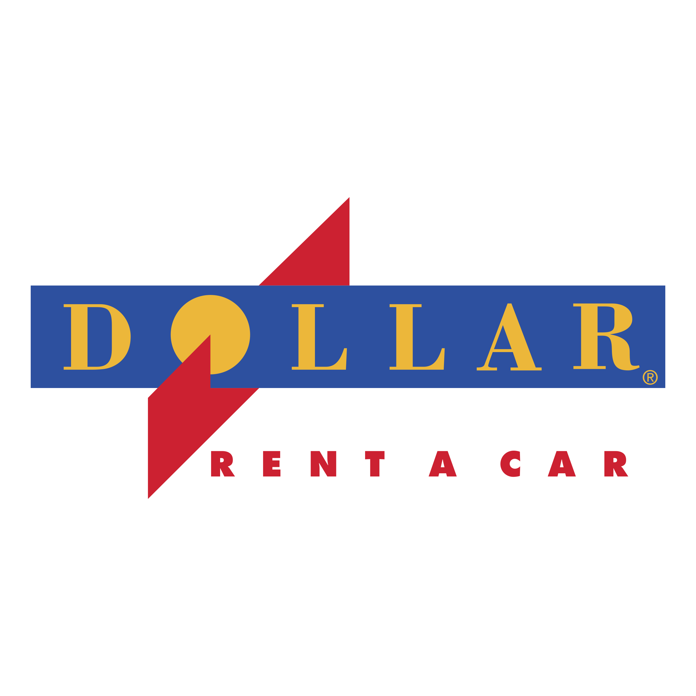 Dollar Rent A Car Logo PNG Transparent & SVG Vector.