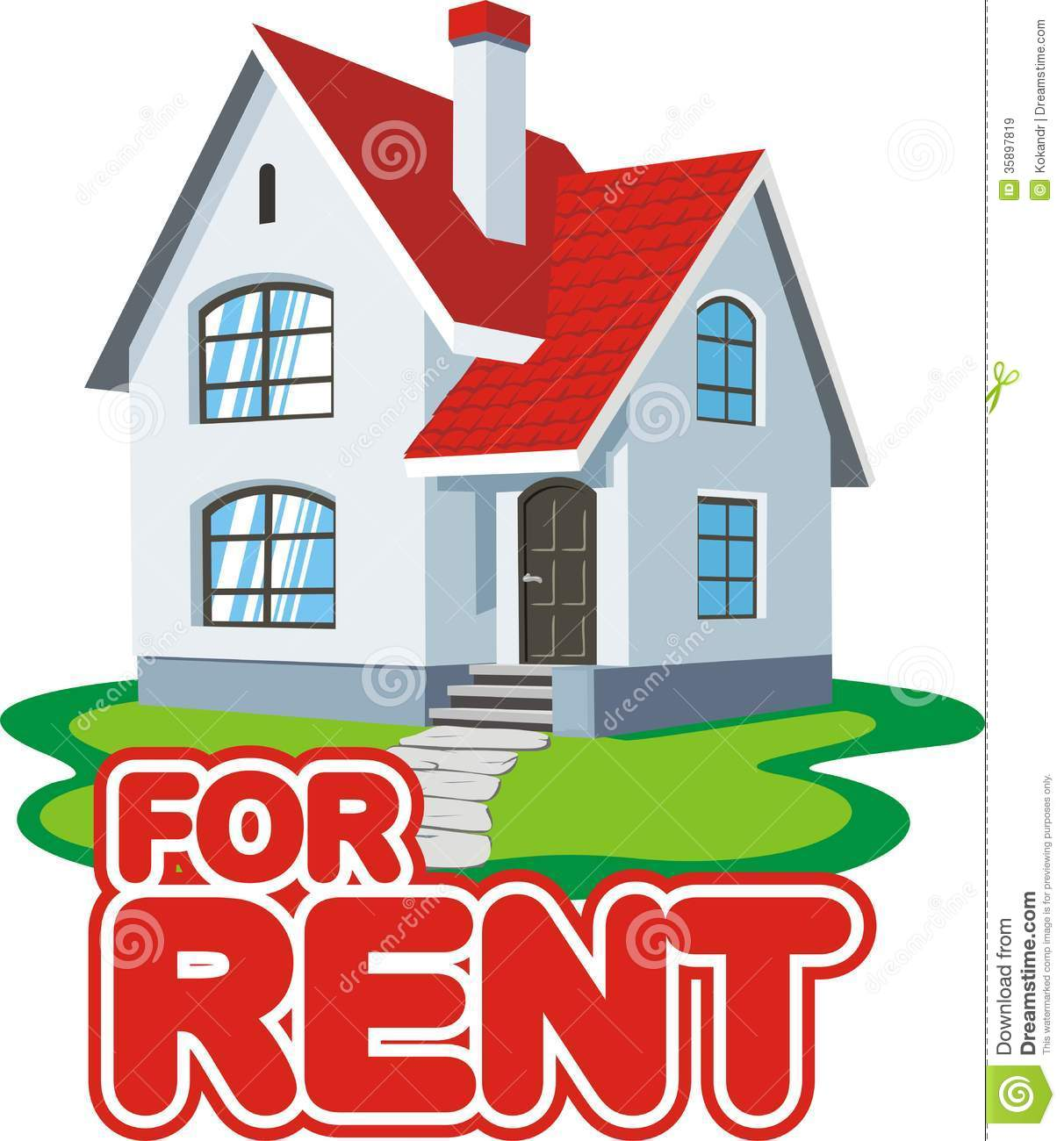 House for rent clipart.