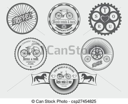 Vector Illustration of sale and rental of bicycles for tra.