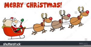 Clipart Rentier Weihnachtsmann.