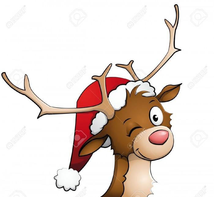 Rentier Weihnachten Clipart Vector, Clipart, PSD.
