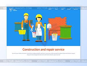 Engineer with Tool, Repair Service Online.