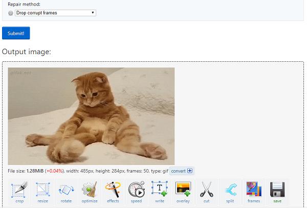 Repair corrupted image files online free or using freeware.