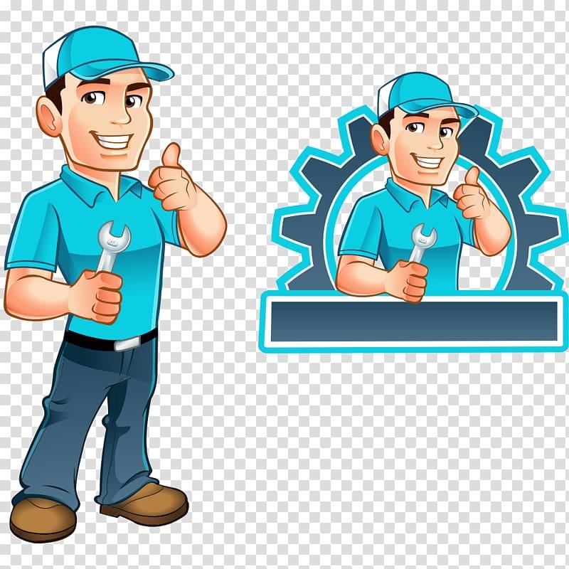 Repair man illustration, Handyman Illustration, repairman.