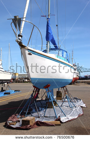 Boat Repair Stock Images, Royalty.