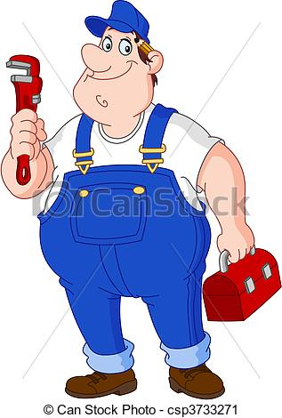 Vector Clip Art of Plumber.