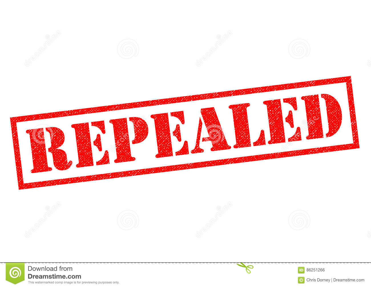 REPEALED Stock Illustration.