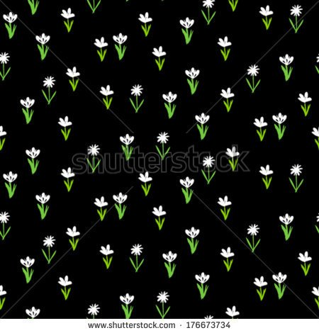 Small print floral repeating pattern clipart.