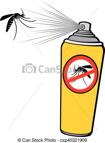 Vector Clipart of anti mosquito spray (repellent can) csp40321909.