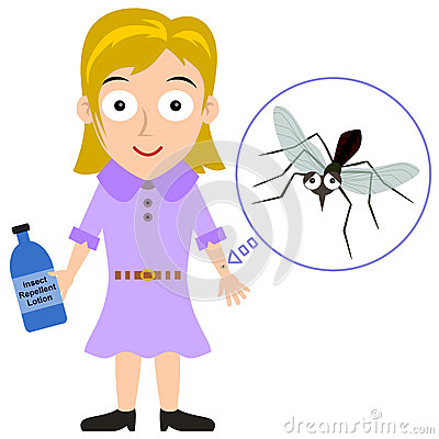 Mosquito Repellent / Insect Repellent Royalty Free Stock Photo.