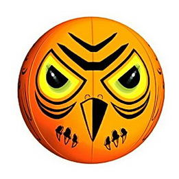 A Scary Halloween Pumpkin Or An Inflatable Bird Repeller The.