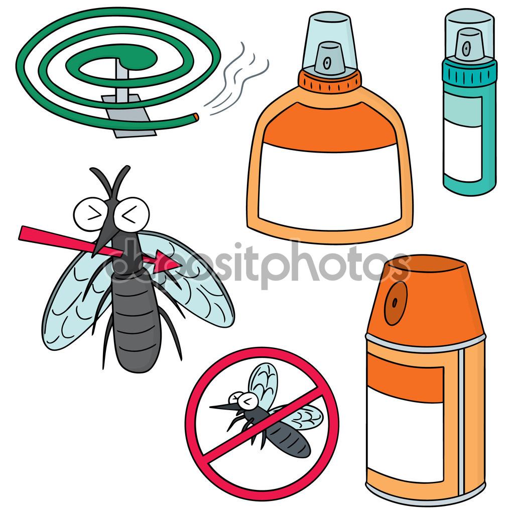 Vector set of mosquito repeller — Stock Vector.