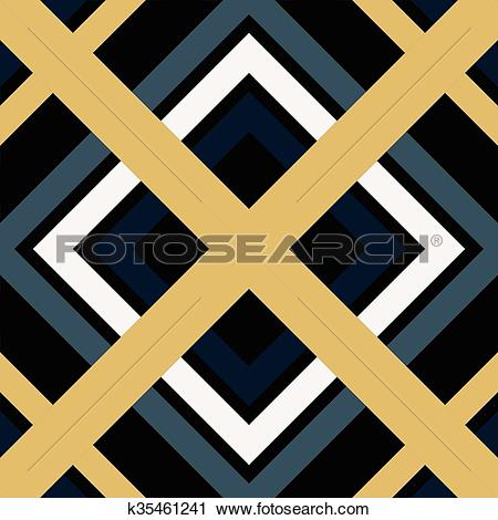 Clipart of Abstract Modern Pattern Created from Repetitive Shapes.