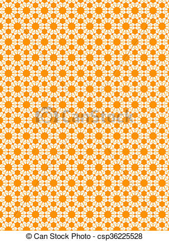Clip Art of Illustrated repetitive pattern csp36225528.