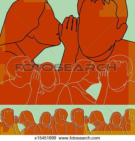 Stock Illustration of Repetitive whispering x15451699.