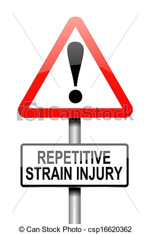 Repetitive strain injury clipart.