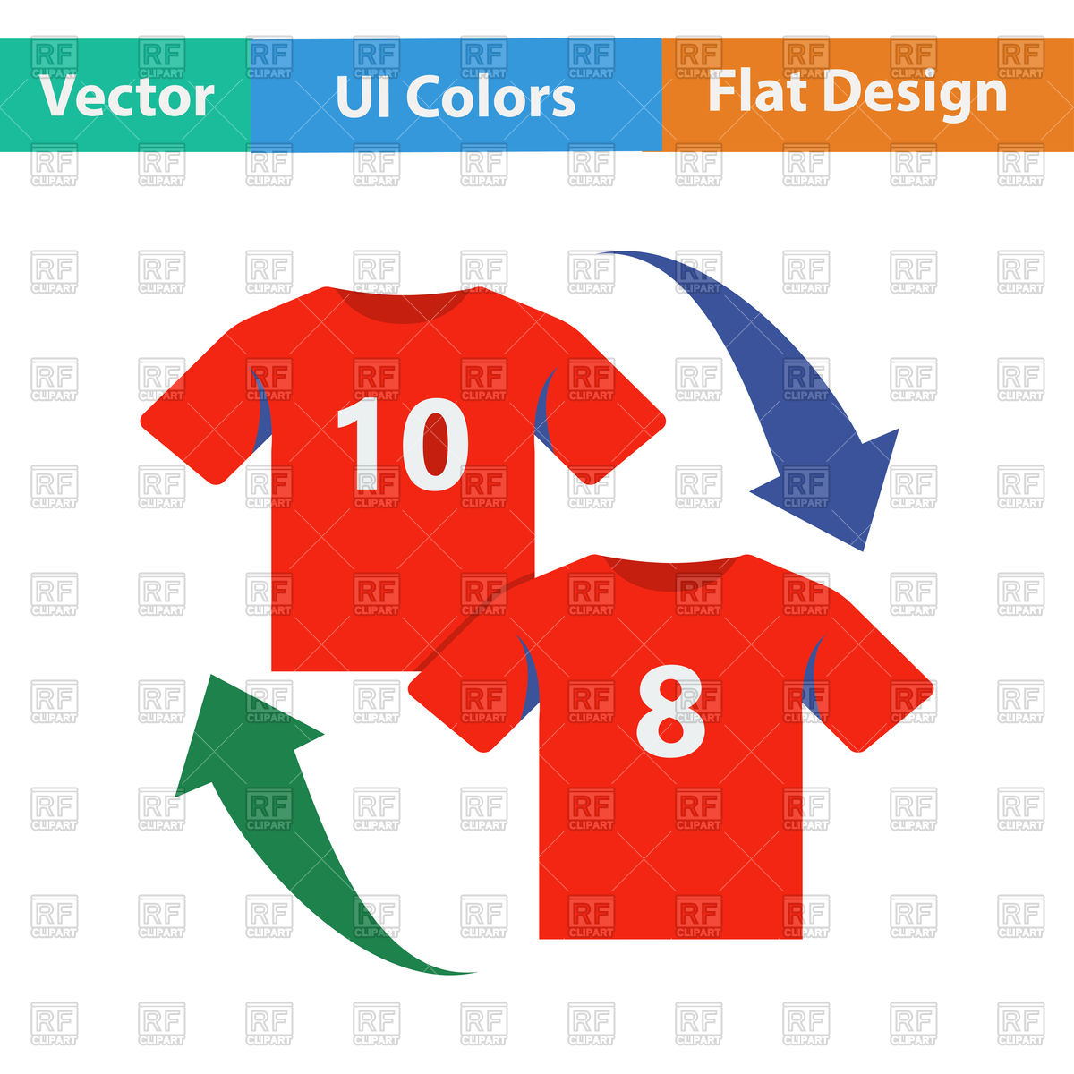 Flat design icon of soccer replace Vector Image #113285.