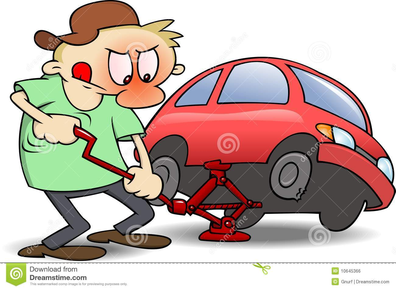 Showing post & media for Women changing flat tire cartoon.