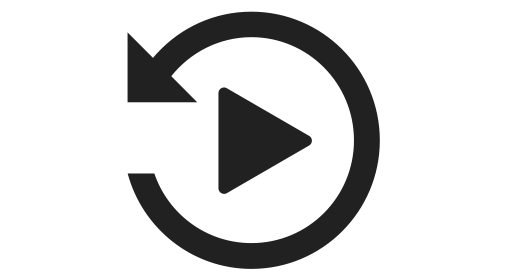 Replay, restart Icon PNG and Vector for Free Download.