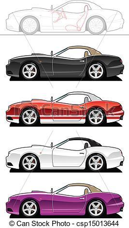 EPS Vector of replica car..