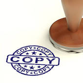 Stock Illustration of Copy Rubber Stamp Shows Duplicate Replicate.