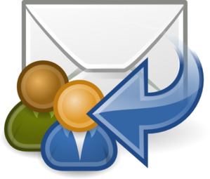 Mail Reply All clip art.